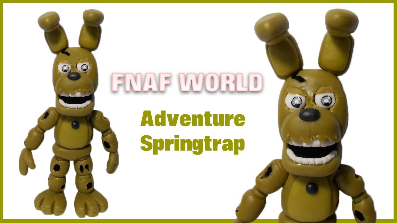 FNAF WORLD | Adventure Springtrap Polymer Clay Tutorial | Collaboration with Giovy's Hobby