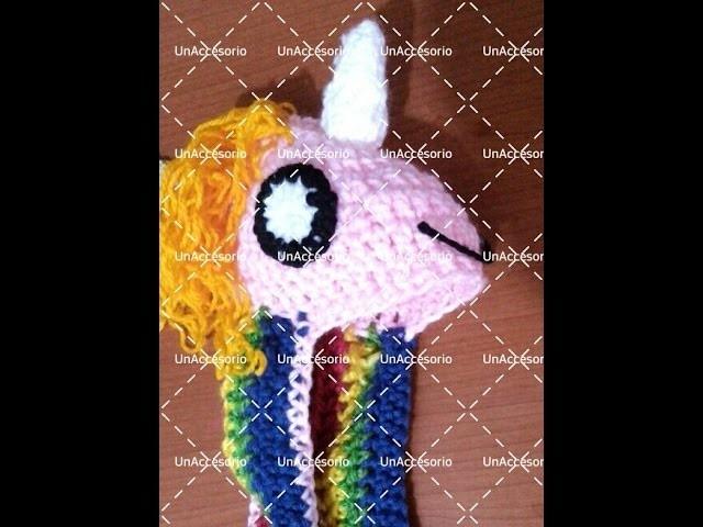 Gorro de arcoiris (hora de aventura) a crochet