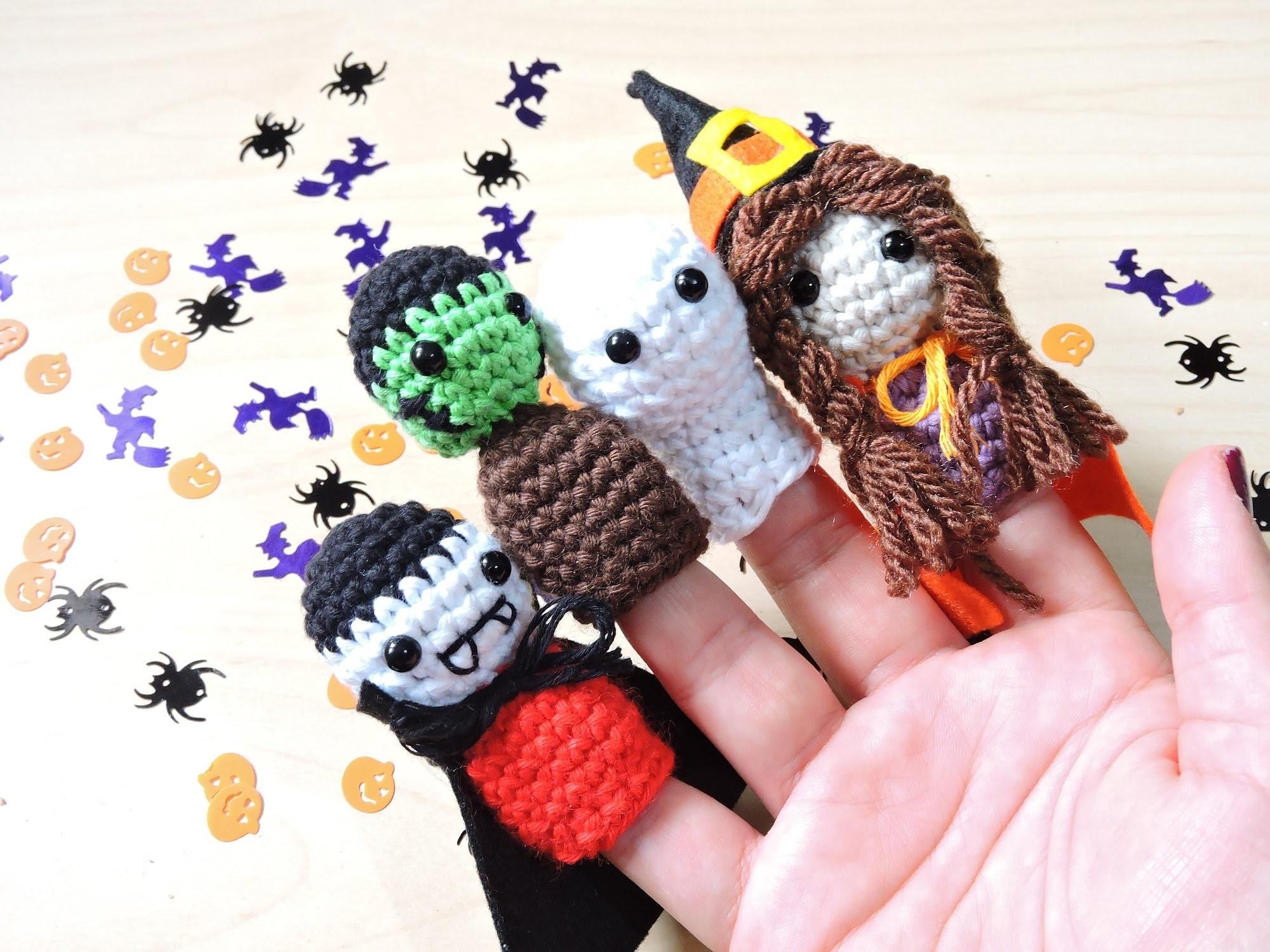 Halloween DIY: Marionetas amigurumi - Halloween fingers puppets