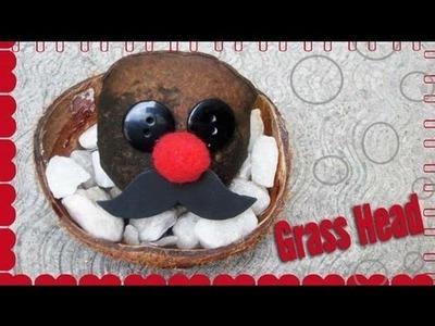 Haz tu propio cabeza de pasto.feliz Dia de la tierra!!