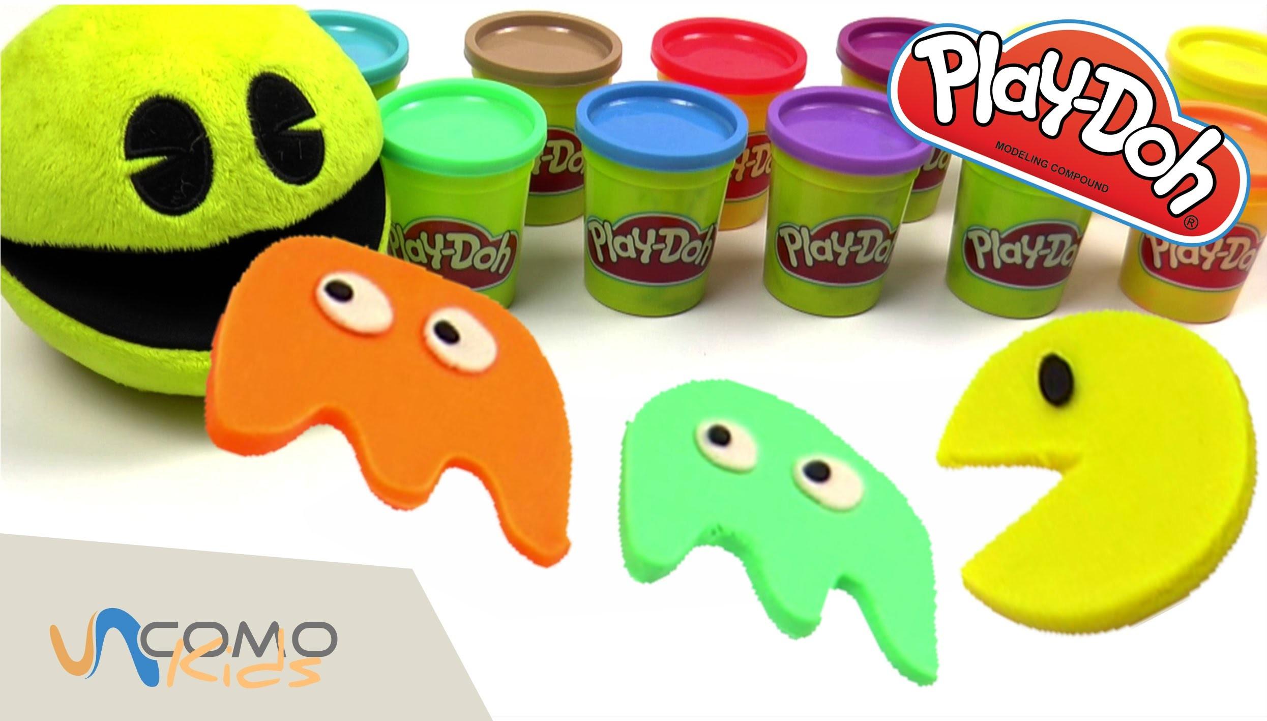 Manualidades con Play Doh - Pacman y fantasmas