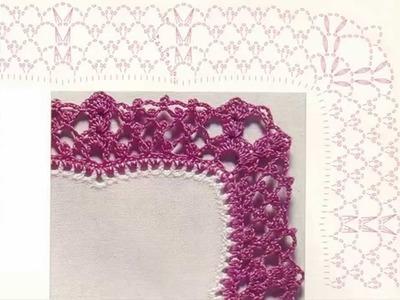 Orillas Puntillas Tejidas a Crochet
