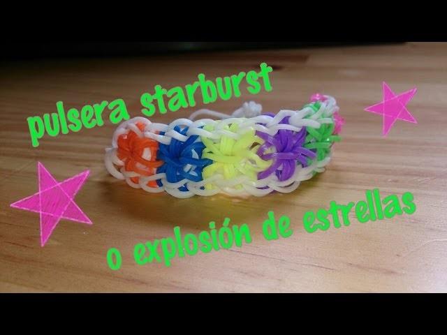Pulsera starburst o explosión de estrella con telar