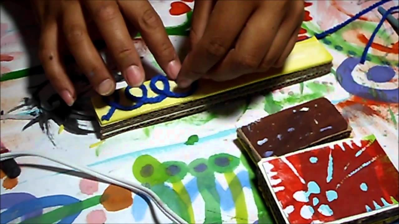 5 formas distintas de hacer sellos. 5 ways to make stamps