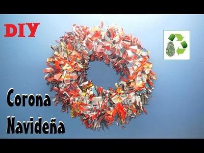 83. DIY CORONA NAVIDEÑA (RECICLAJE DE PAPEL)