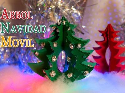 Arbol de Navidad Movil Para Decoracion o Centro Mesa