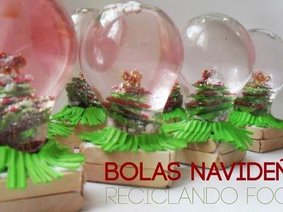 Bolas Navideñas Recilando Focos ♡ Bruja Creativa