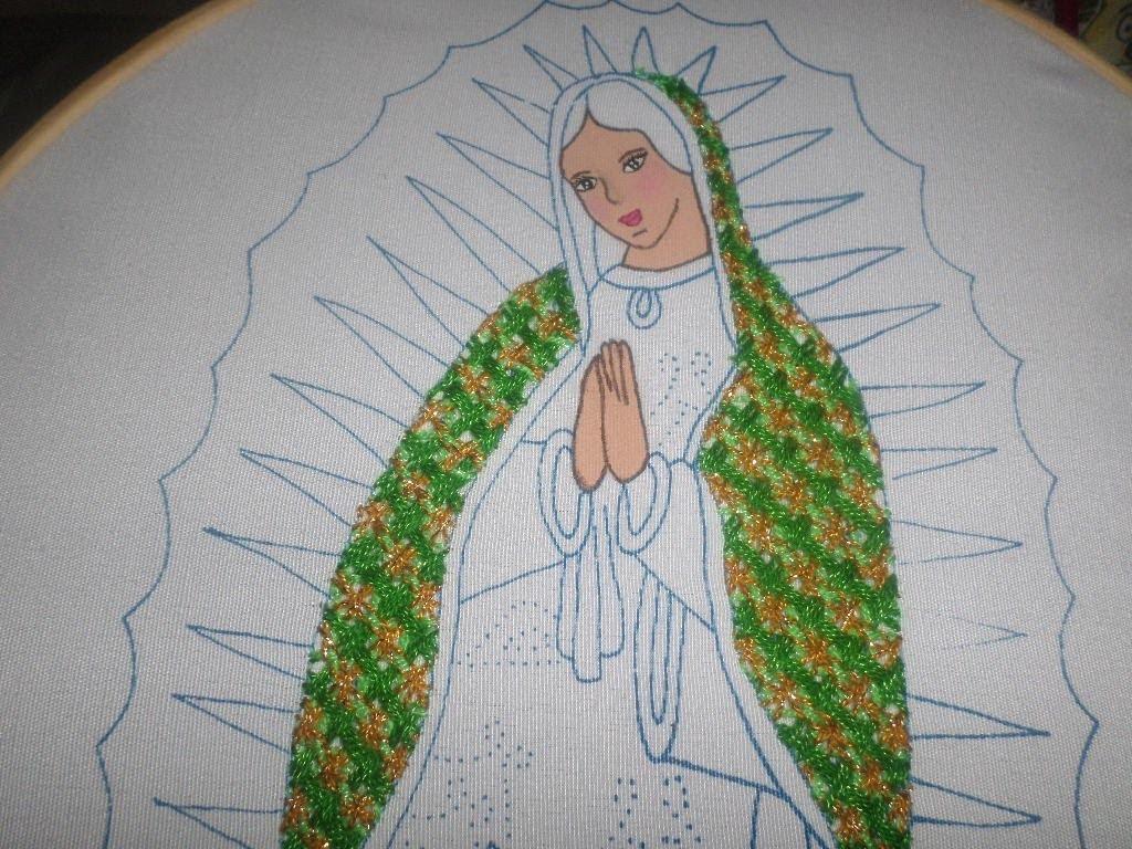 Bordado Fantasía Manto Virgen Guadalupe