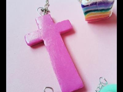 ¡Haz tus propios collares con porcelana fria! :crucifijo