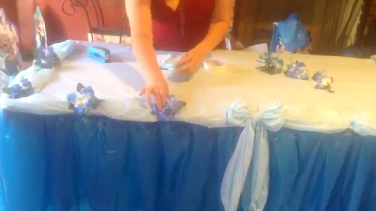 Como decorar una mesa estilo frozen o de princesas.
