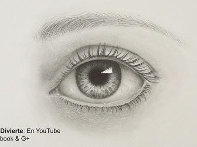 Cómo dibujar un ojo realista a lápiz- Arte Divierte.
