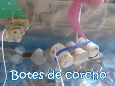 Cómo hacer barcos de corcho