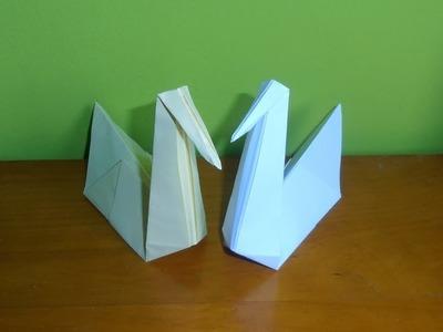 Cómo hacer cisne de papel