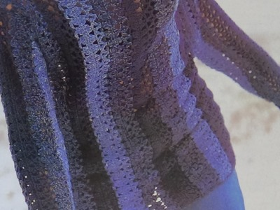 Como hacer jersey playero a franjas tejido a crochet