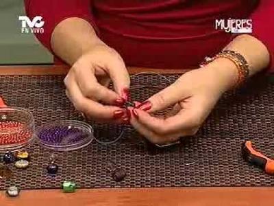 Cómo hacer Pulseras con Chaquirones 1a. Parte (METVC)