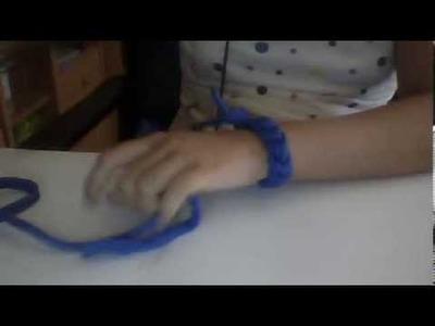Como hacer pulseras de trapillo