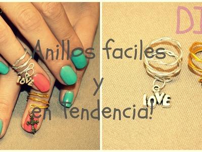 Como hacer tus propios anillos-Super facil+ Saludos!-DIY-Mon :D