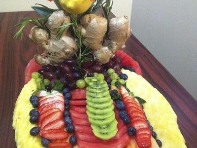 Cómo hacer un platon de fruta picada para una fiesta #2 - arte con fruta - La receta de la abuelita