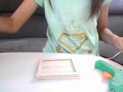 Como hacer una canasta de palitos de madera