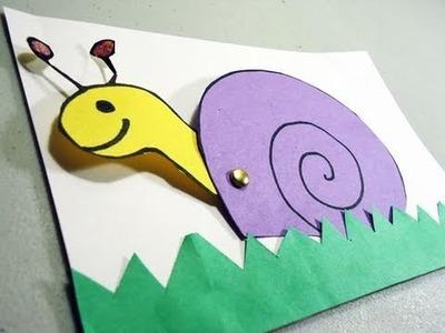 Cómo  hacer  una tarjeta con un caracolito movil