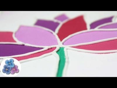 Como Pintar Cuadros Modernos con Acrílicos de Tubo y 3D FACIL Tutorial DIY Pintura Facil