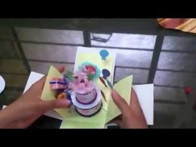 Como realizar una tarjeta explosiva paso a paso