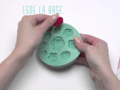 Cómo utilizar los moldes para fondant que se presionan fácilmente