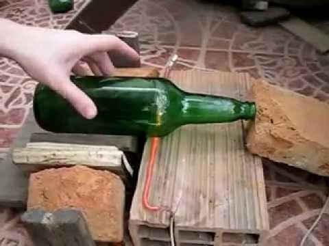 Cortar botella de vidrio - Método fácil y rápido (Cut glass bottle - easy and quick way)