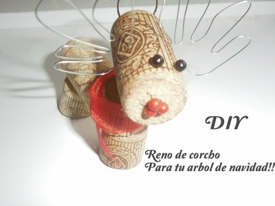 DIY:Adornos de navidad;Reno de corchos.DIY:Reindeer for your Christmas tree