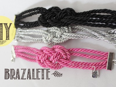 DIY Brazalete de la amistad. Friendship knot brazelet