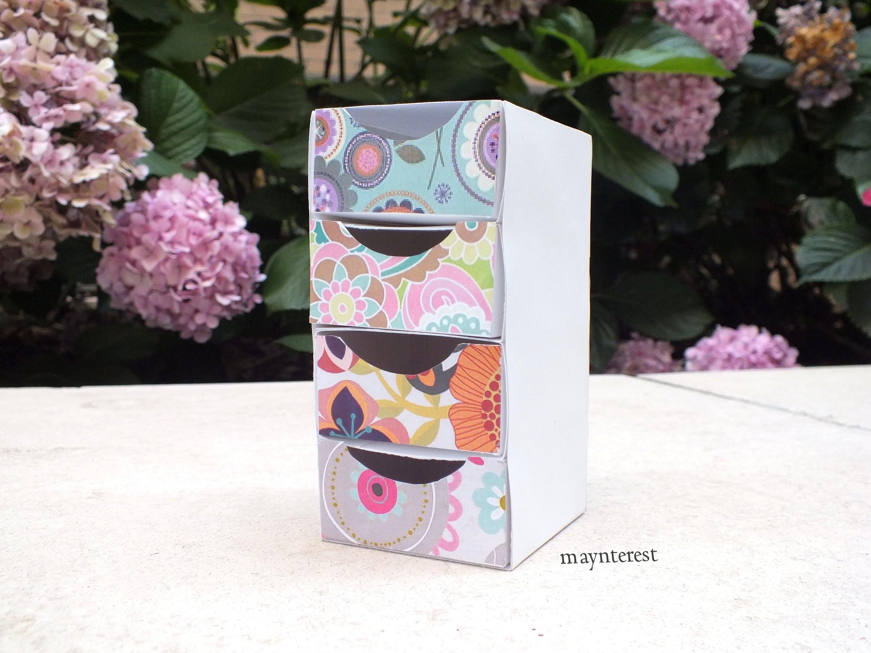 DIY:Cómo hacer una CAJA ORGANIZADORA con CAJONES | BOX ORGANIZER Manualidades