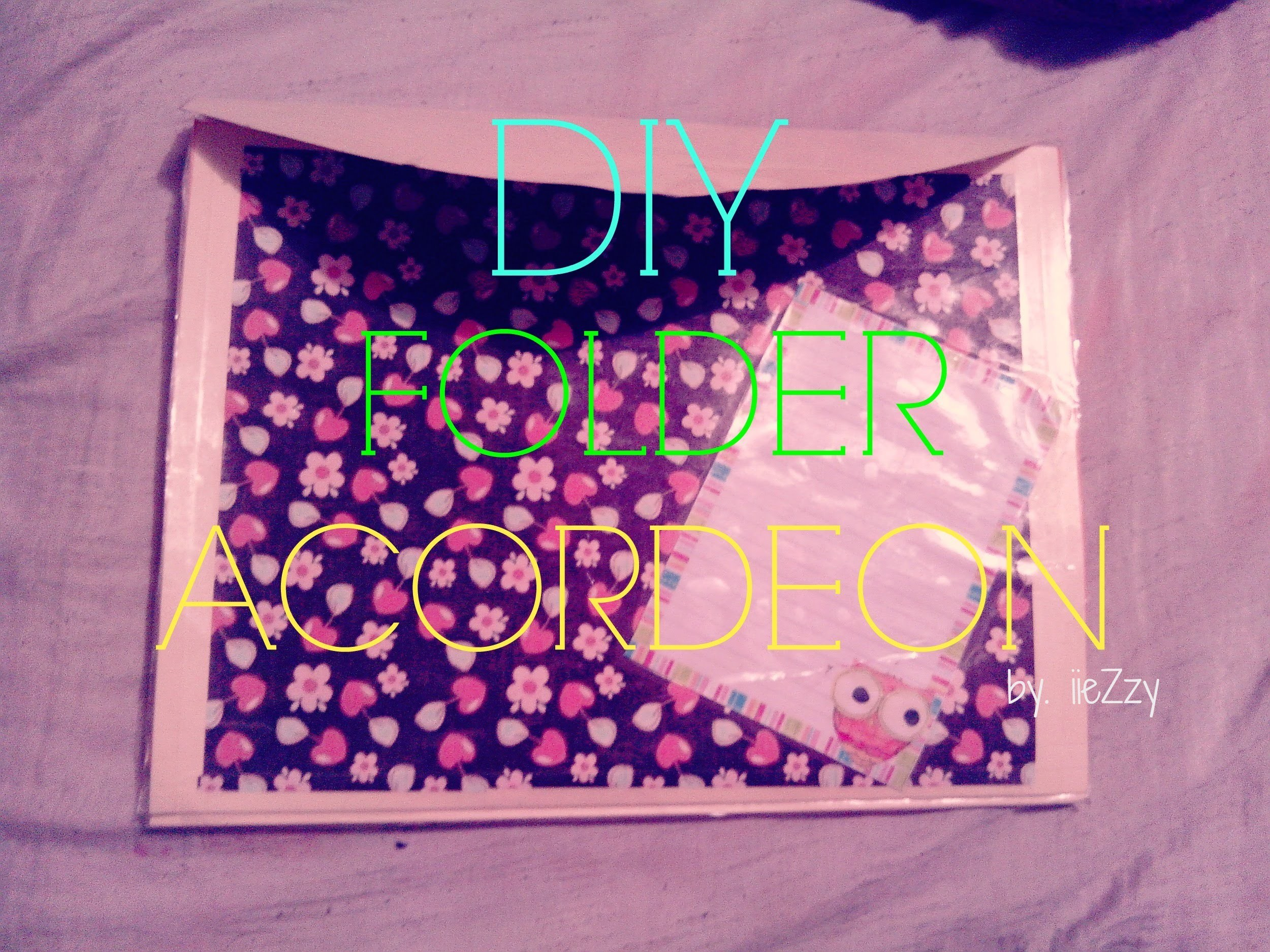 DIY. FOLDER ACORDEON P.REGRESO A CLASES (BACK TO SCHOOL)