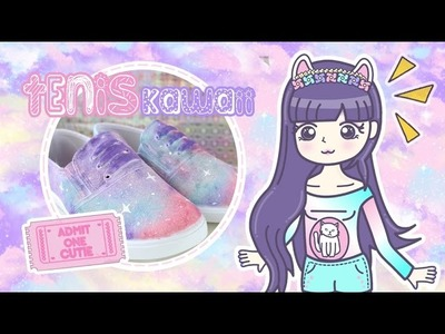 DIY: Tenis Galaxia Kawaii | Pastel Galaxy Shoes
