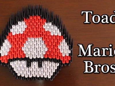 El Hongo Toad De Mario Bros Origami 3D ¡TUTORIAL!