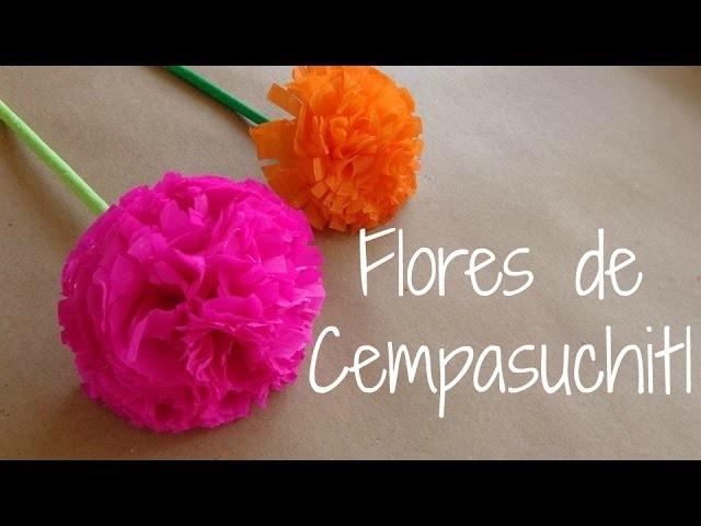Flores de cempasuchitl {FLORES DE PAPEL CREPE}. Dia de muertos