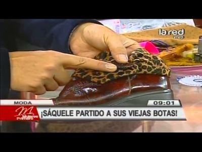 Fred Redondo enseña a enchular unas viejas botas