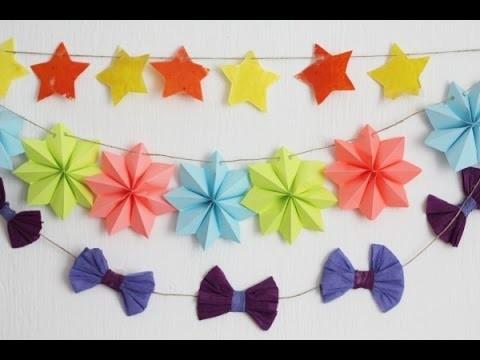 Guirnalda decorativa crafty • 3 ideas | Craftingeek*