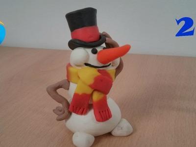 Hacer el sombrero y bufanda de un muñeco de nieve (2.3)