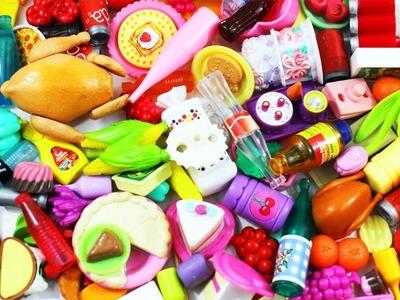 Haul: Compras de Comida para mi Casa de muñecas - botellas, latas, bolsas, frutas, verduras y dulces