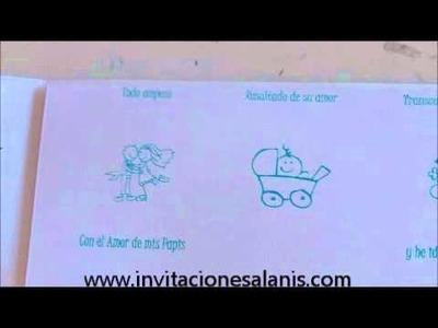 Invitaciones Alanis - Invitacion Historia XV Años
