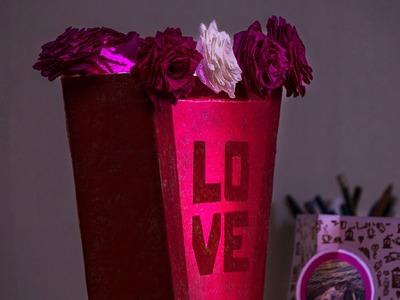 Lampara macetero de flores + Mensaje oculto | 14 febr