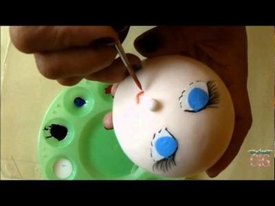 Manualidad: Cómo hacer una cabeza de muñeca con porcelana fría