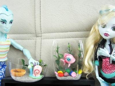 Manualidades para muñecas: Haz un terrario y un acuario (pecera) para tus muñecas.