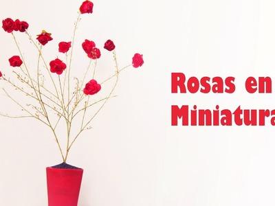 Manualidades para muñecas: Haz rosas en miniatura