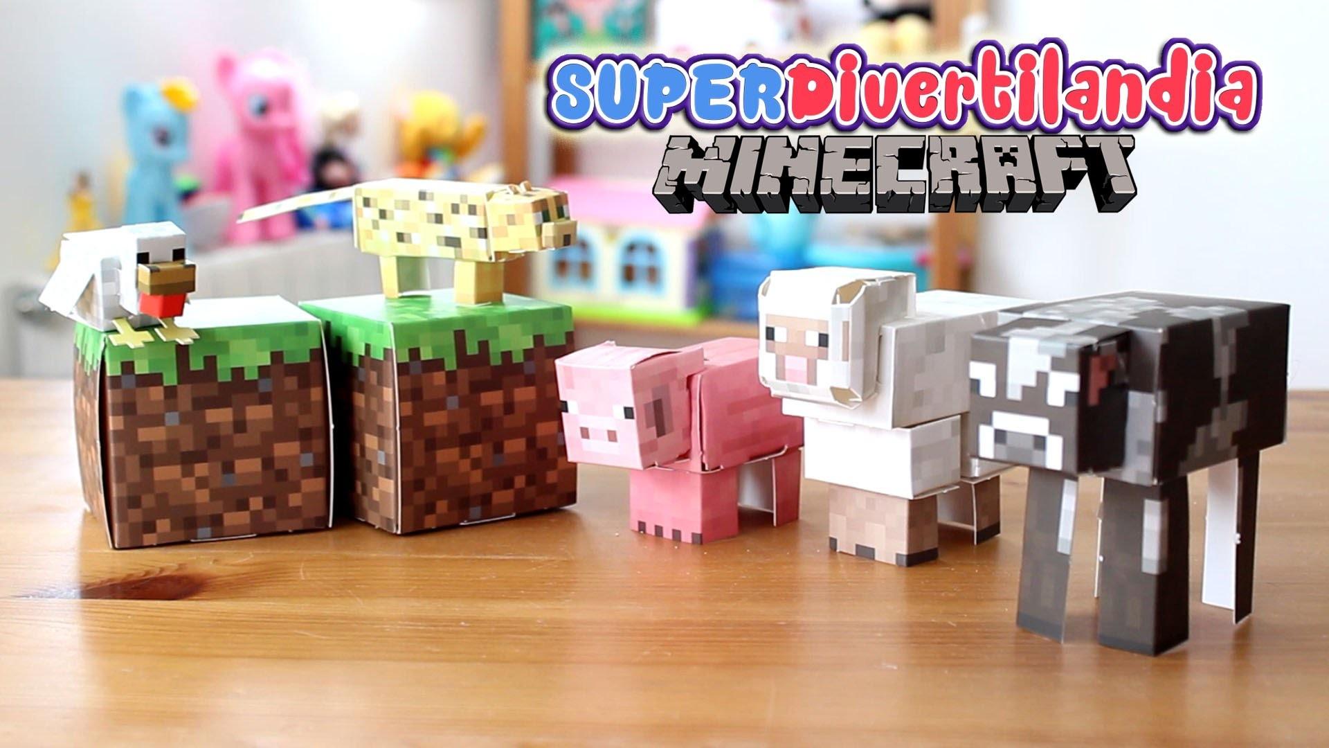 Minecraft Paper Craft Animales del juego - Animal Mobs.