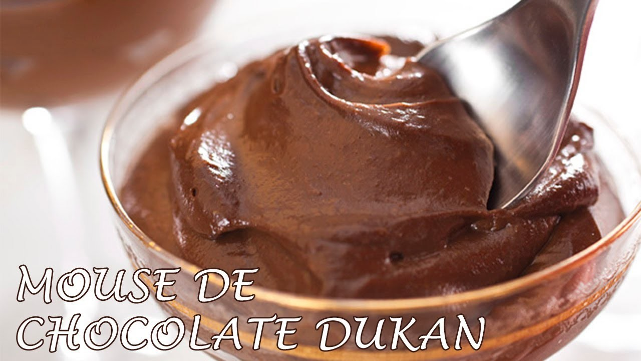 Mousse de Chocolate Dukan - Dukan Chocolate Mousse - Receta Fase Crucero