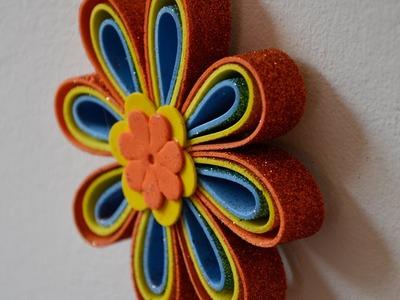Móvil de flores de Goma eva - Manualidades para todos