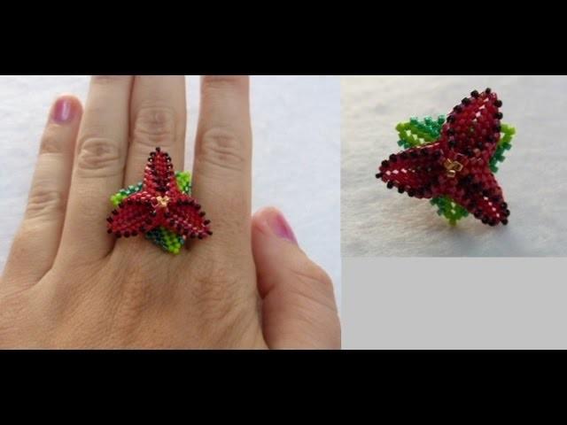 Tutorial anillo flor triangular