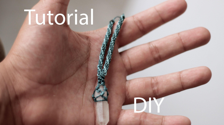 Tutorial collar macrame con punta de cuarzo | necklace macrame quarz