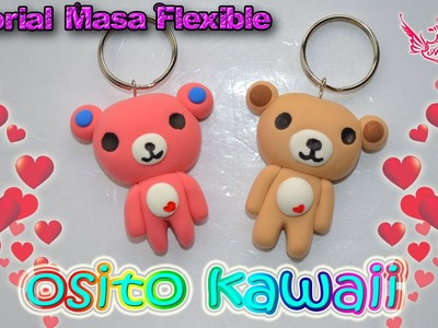 ♥ Tutorial: Osito Kawaii de Masa Flexible ♥